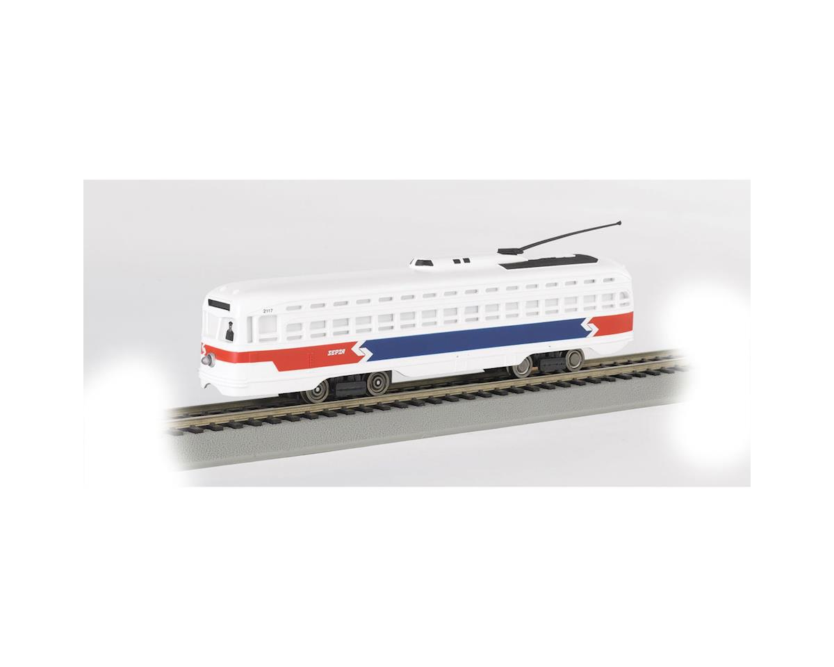Bachmann HO PCC Trolley, Philadelphia/Septa/Red/White/Blue