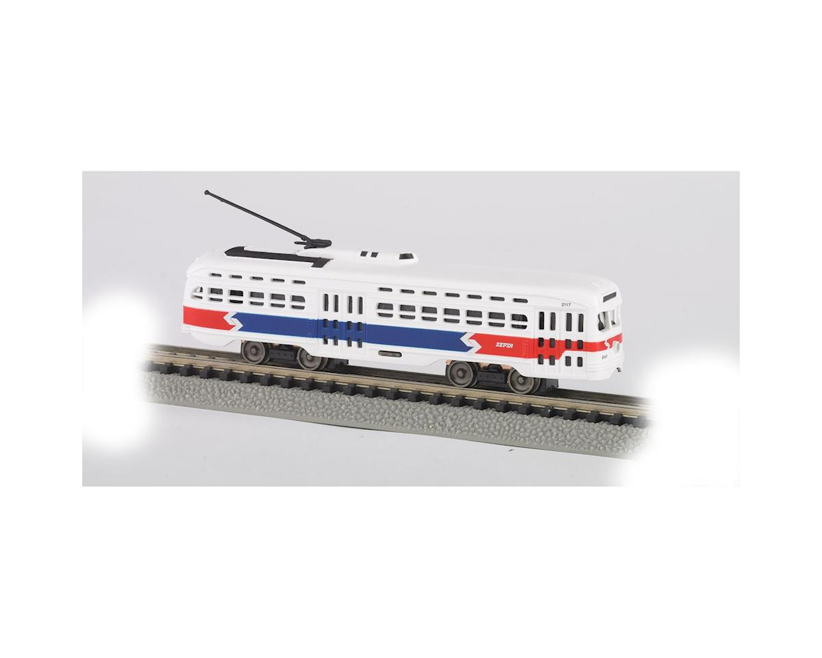 Bachmann N PCC Trolley, Philadelphia/Septa/Red/White/Blue