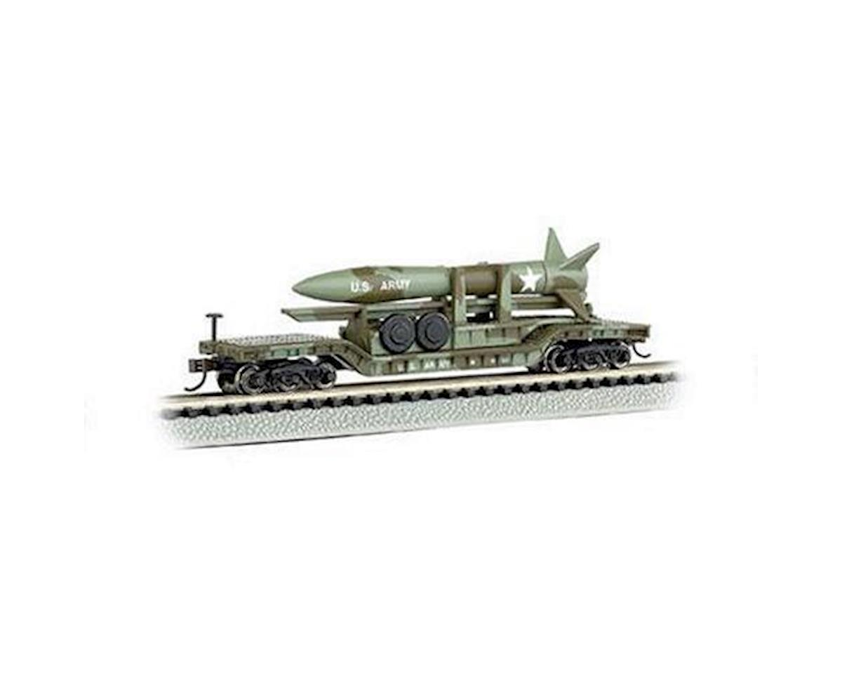 Bachmann N 52' Depressed Center Flat w/Missle, USAF/Olive