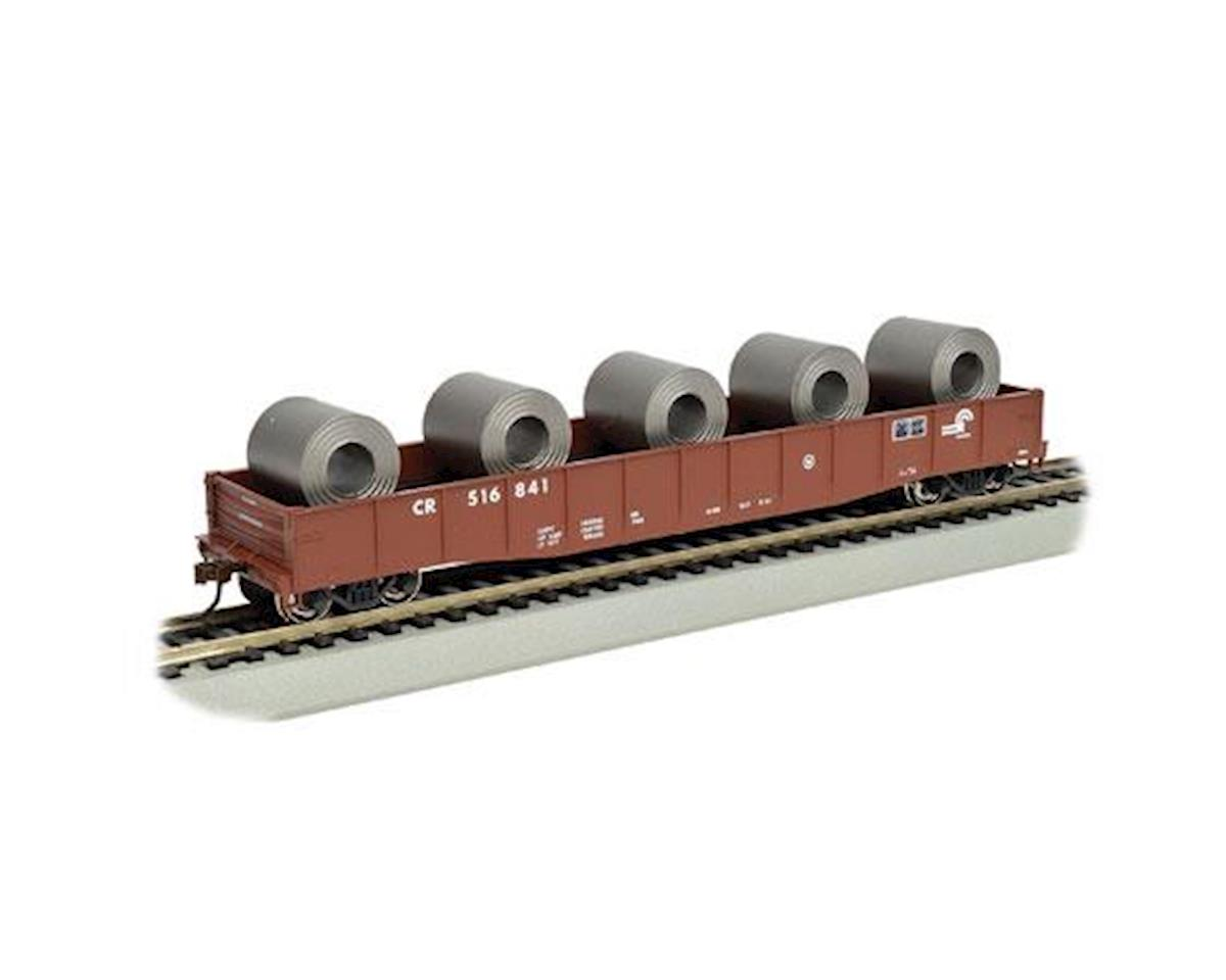 HO Gondola w/Steel Coil Load, CR by Bachmann