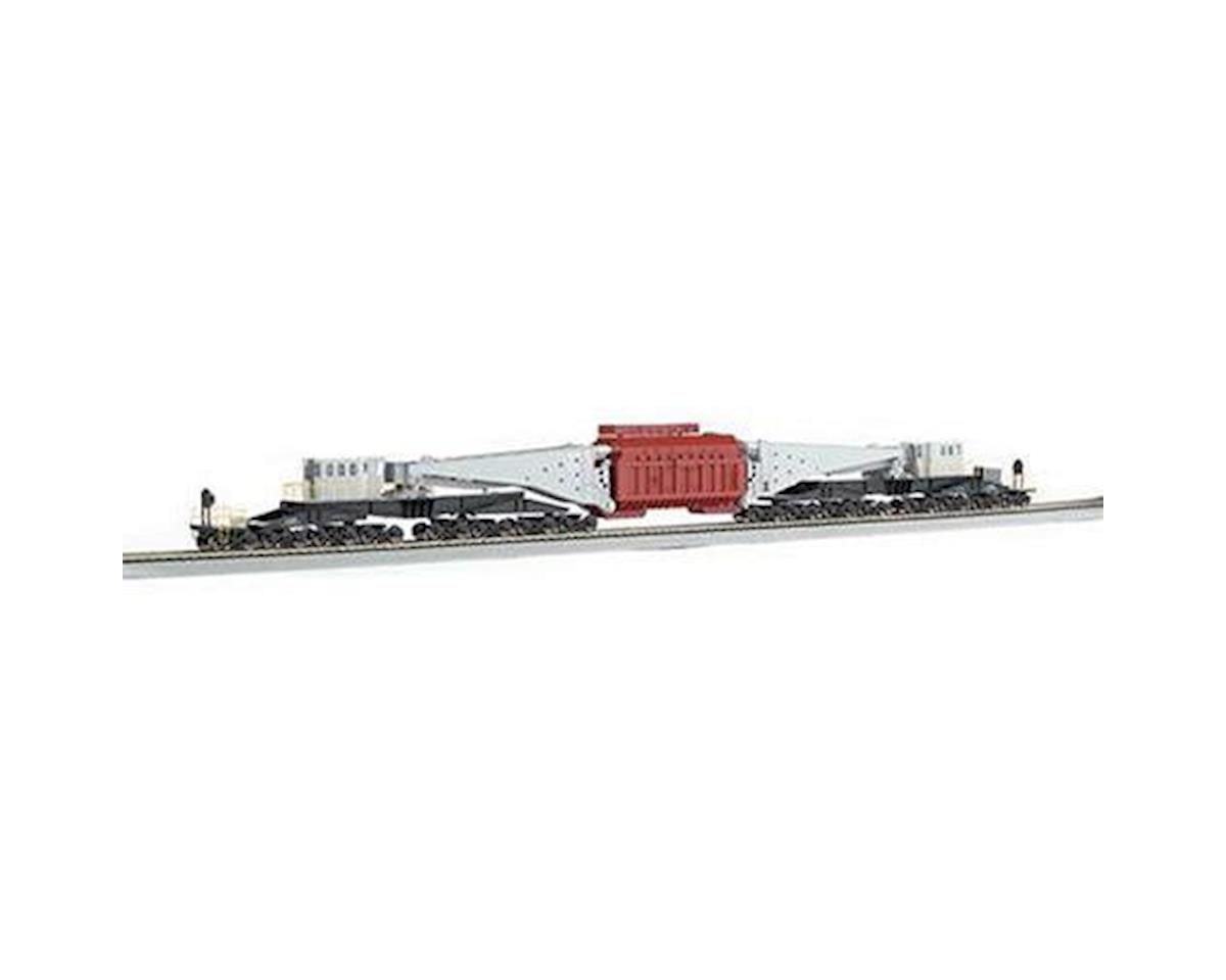 Bachmann HO Spectrum 380-Ton Schnabel Car, Gray/Black