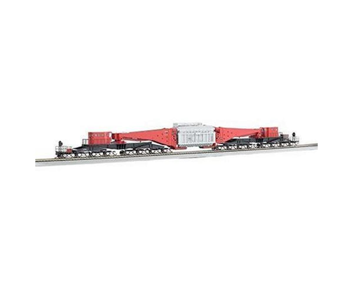 HO Spectrum 380-Ton Schnabel Car, Red/Black by Bachmann