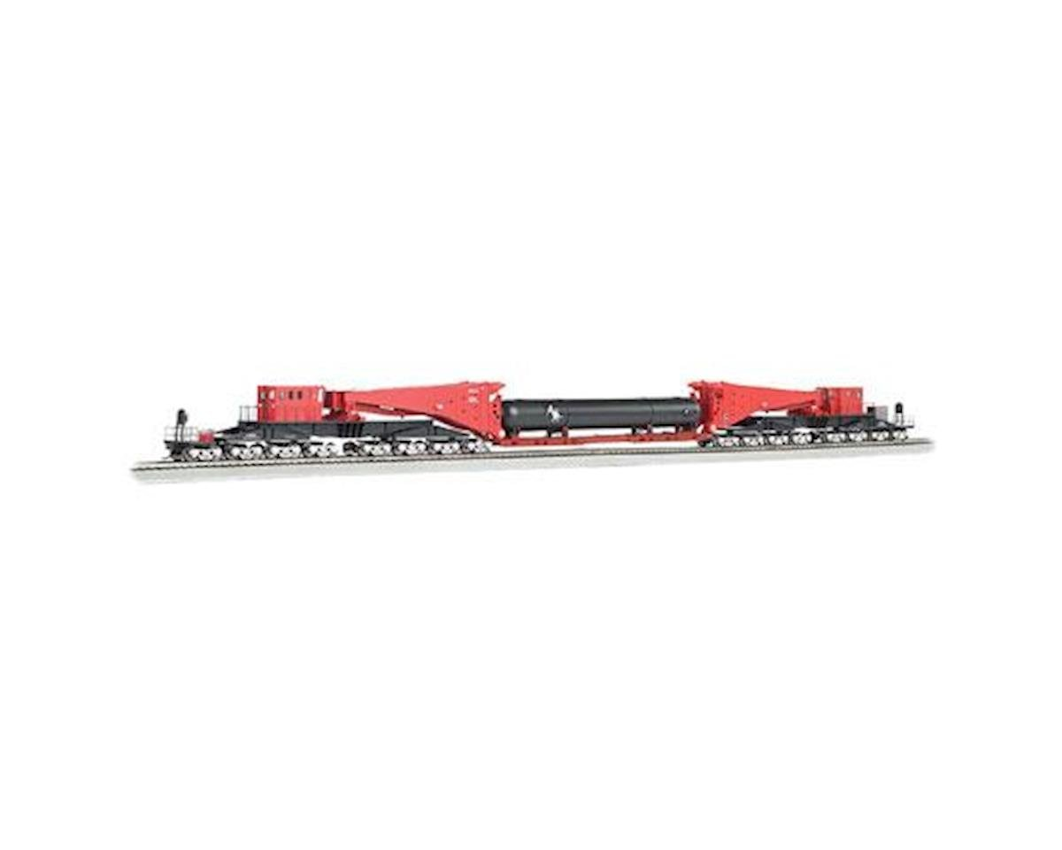 HO Spectrum Scnabel w/Retort/Cylider Load, Red/Blk by Bachmann