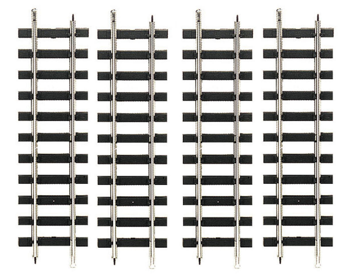 "Bachmann 12"" Steel Straight Track (4) (Large Scale)"