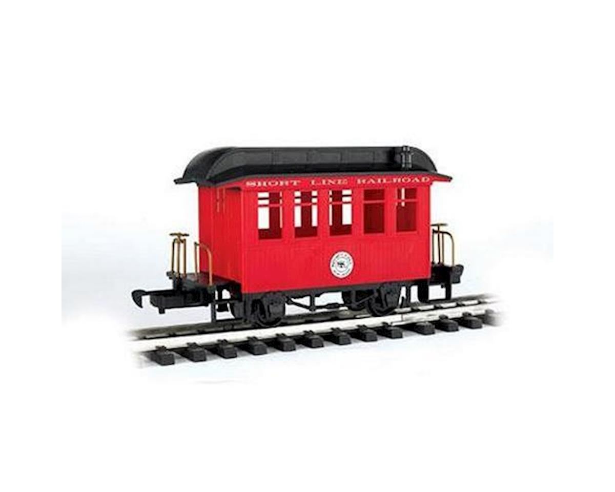 Bachmann G Li'l Big Haulers Coach Car, Short Line/Red