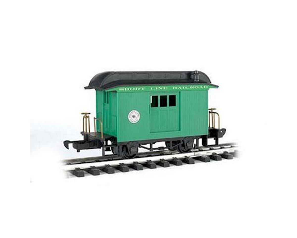 Bachmann G Li'l Big Haulers Baggage Car, Short Line/Green