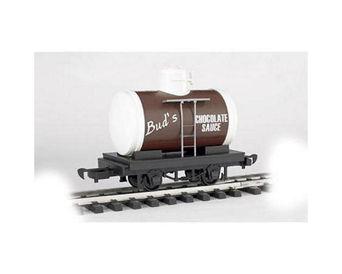 G Li'l Big Haulers Tank Car, Bud's Chocolate Sauce by Bachmann