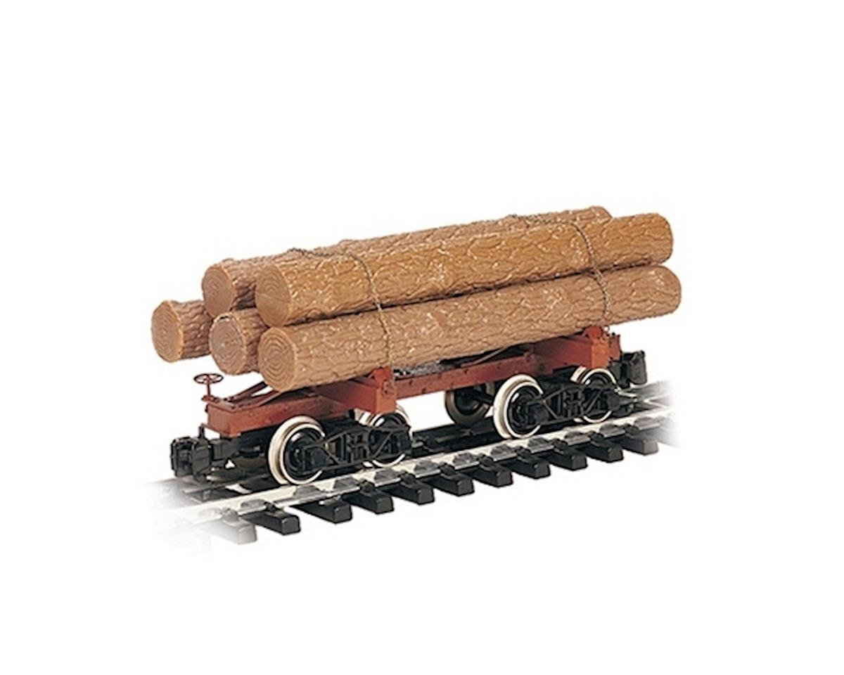 Bachmann G RTR Skeleton Log Car w/Logs, Brown/Unlettered