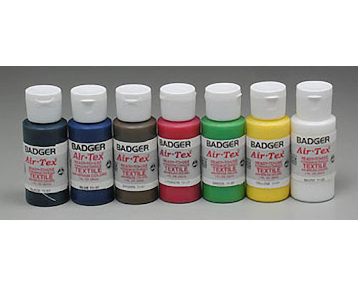 Badger Air-brush Co. 1101 Air-Tex Textile Airbrush Paint Set Primary (7)