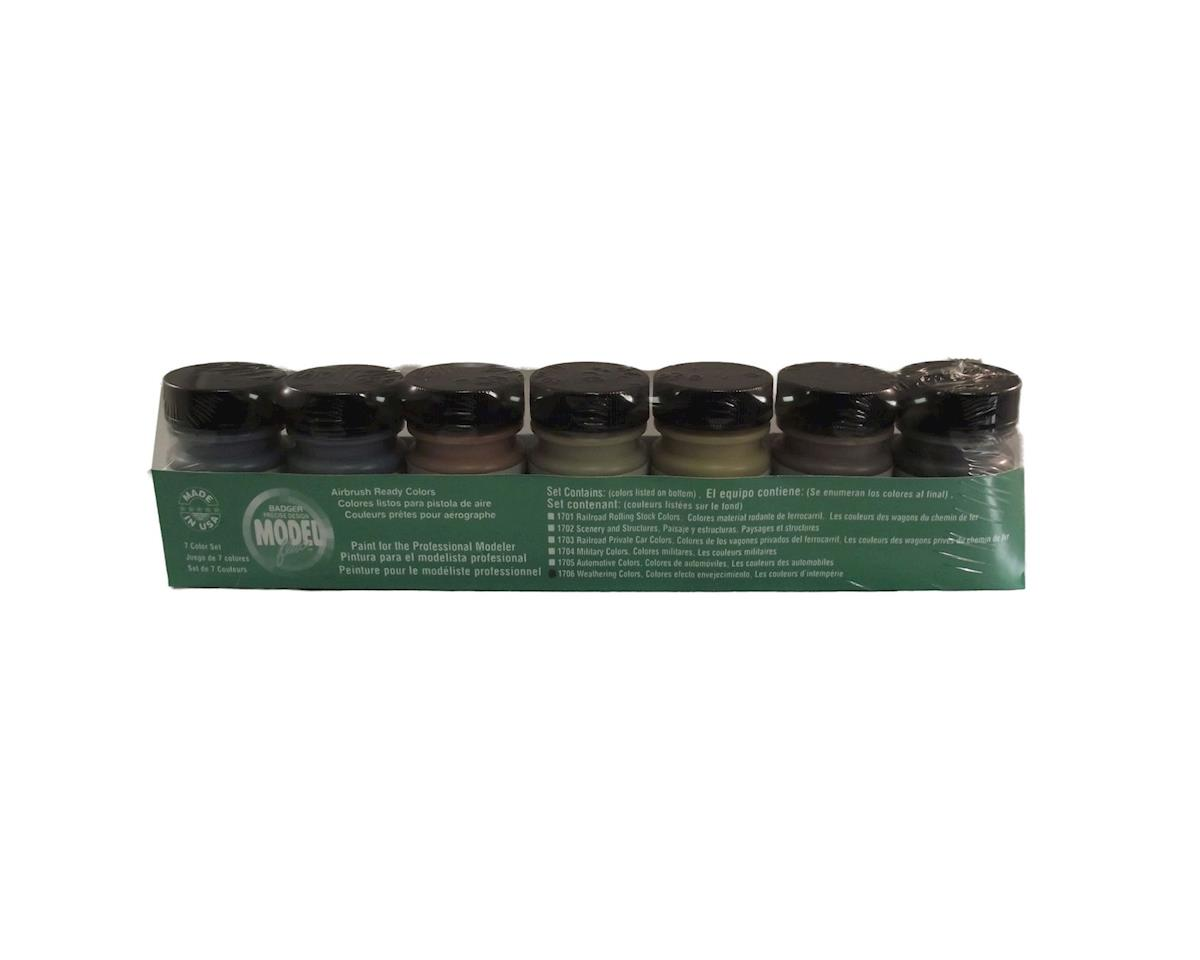 Badger Air-brush Co. Weathering Colors , 7 pc