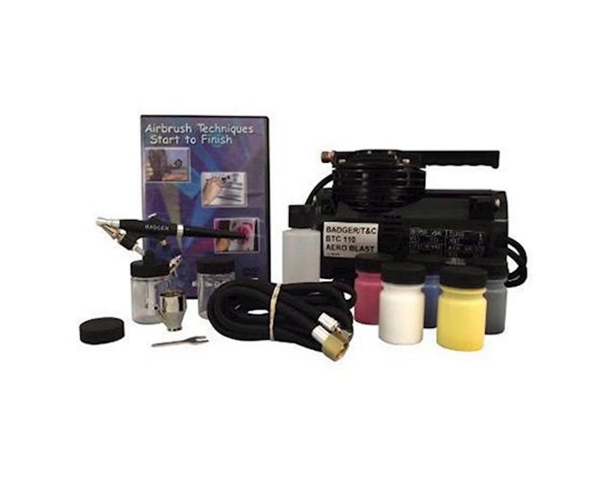 Badger Air-brush Co. 350 Airbrush Starter Set, with BTC-110 Compressor