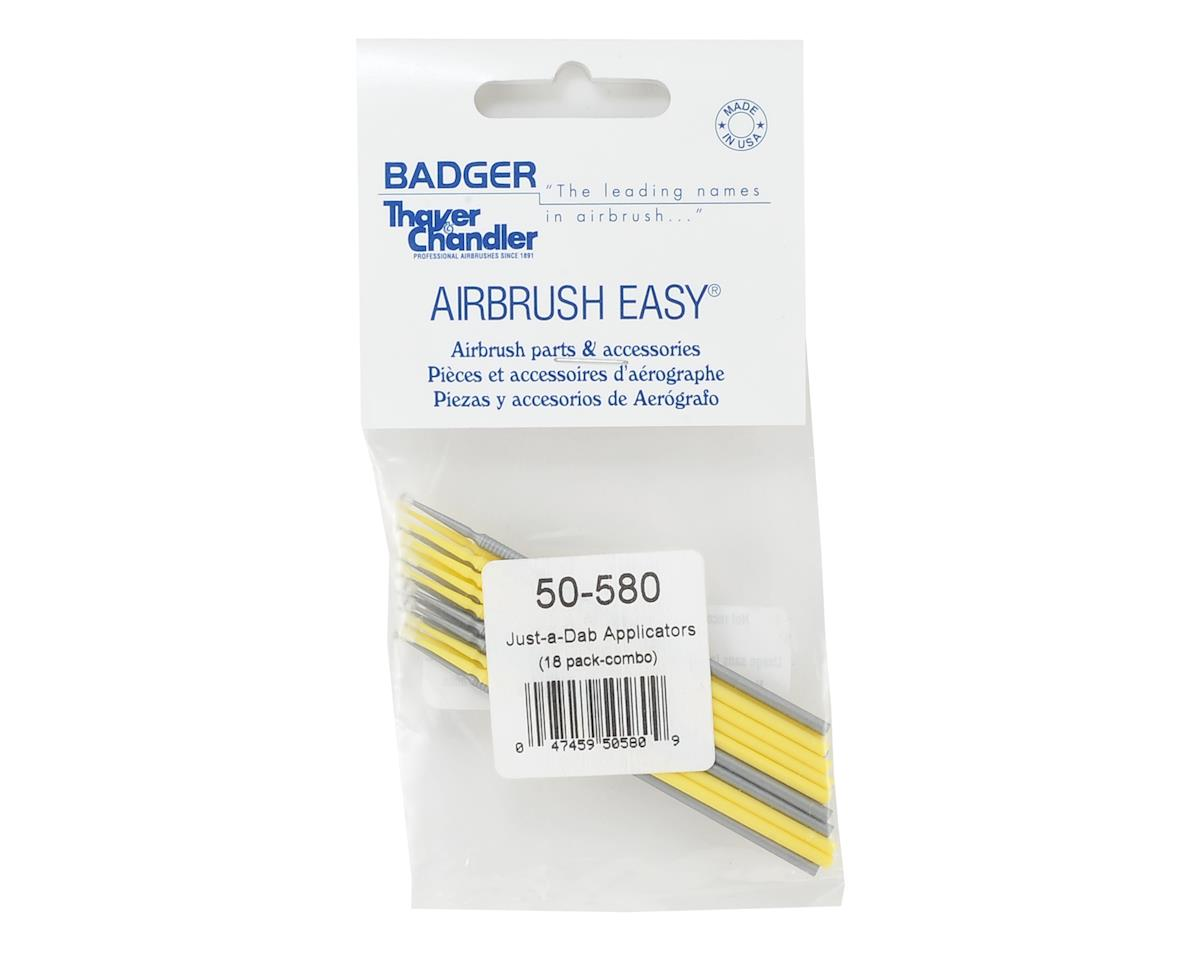 Badger Air-brush Co. Just A Dab Microbrush Combo Pack (18)