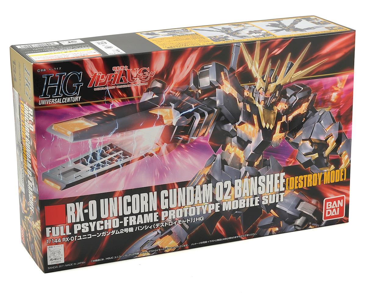 Bandai RX-0 Unicorn 02 Banshee Destroy Mode Gundam #134