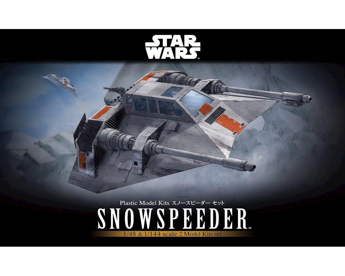 Bandai 217734 1/48 & 1/144 Snowspeeder Set Sar Wars Bandai