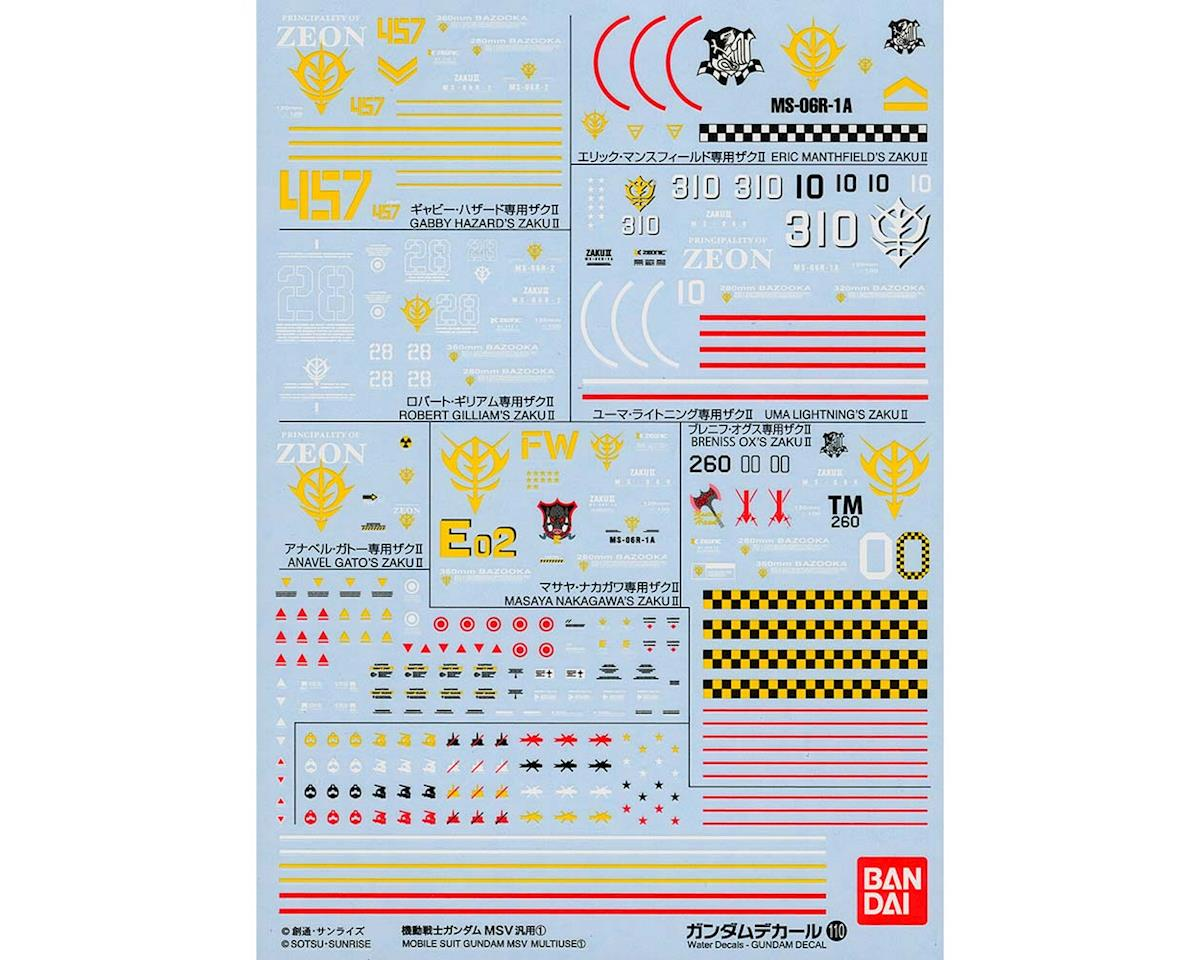 Bandai 221290 Gundam Decal No110 Multi-Use Mobile Suit MSV (6)
