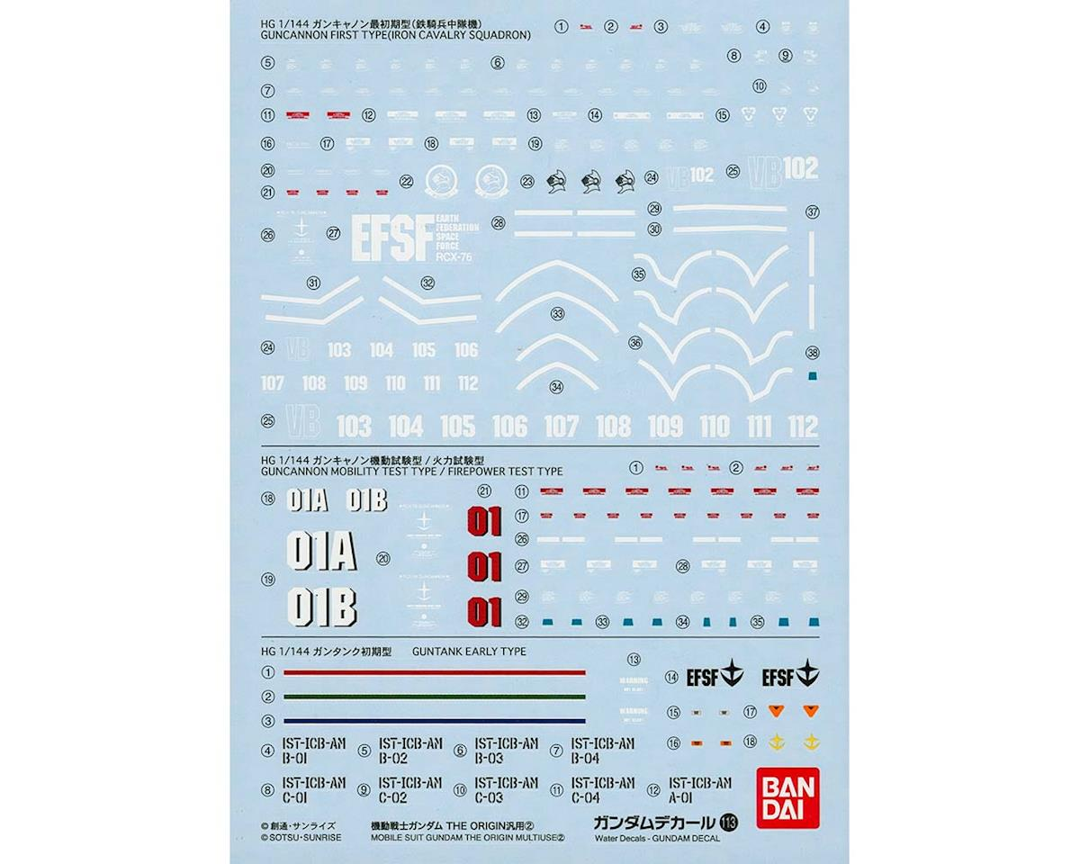 Bandai Gundam Decal No113 Multi-Use Mobile Suit The Org