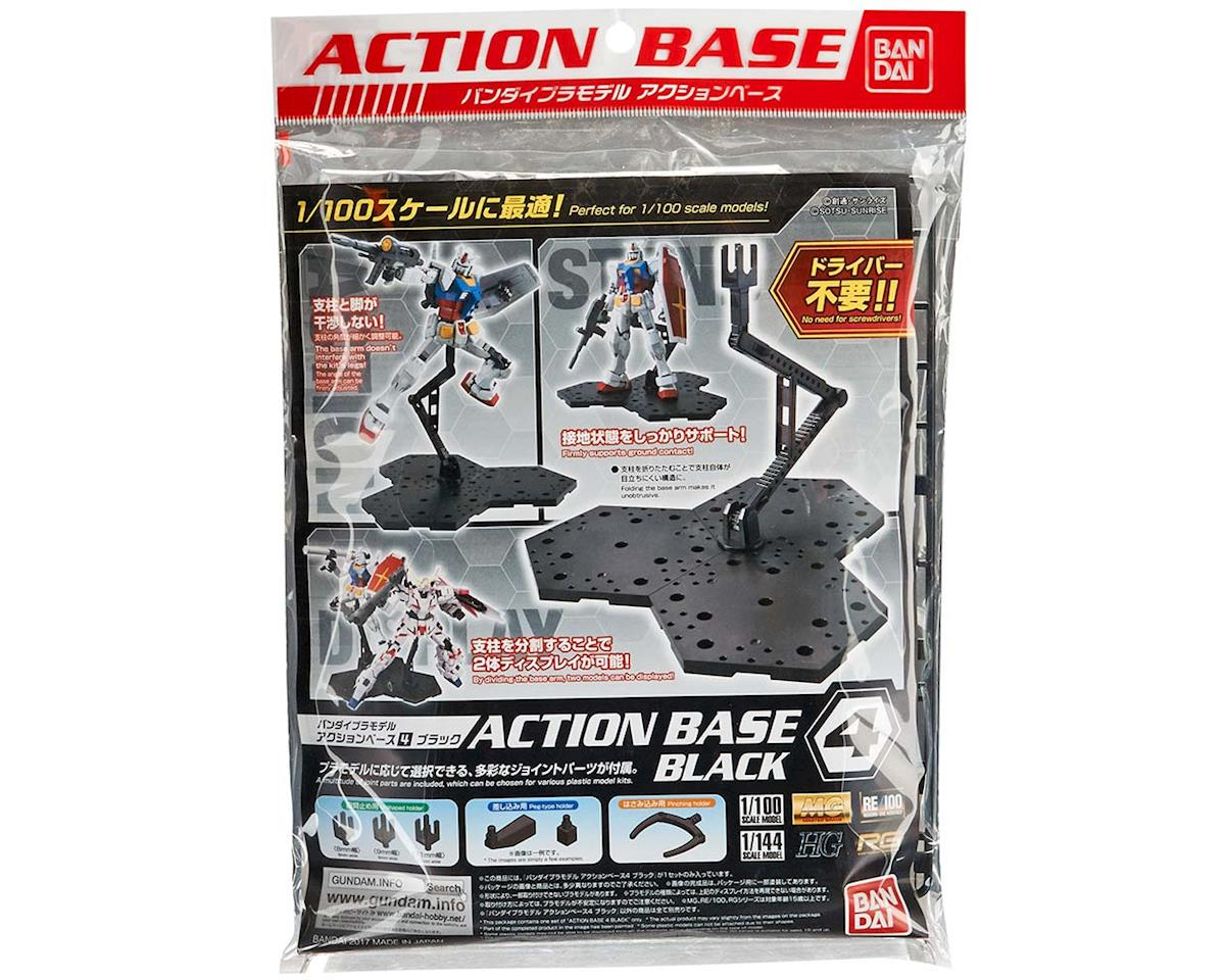Bandai 223030 Black Action Base 4 for Gundam 1/100