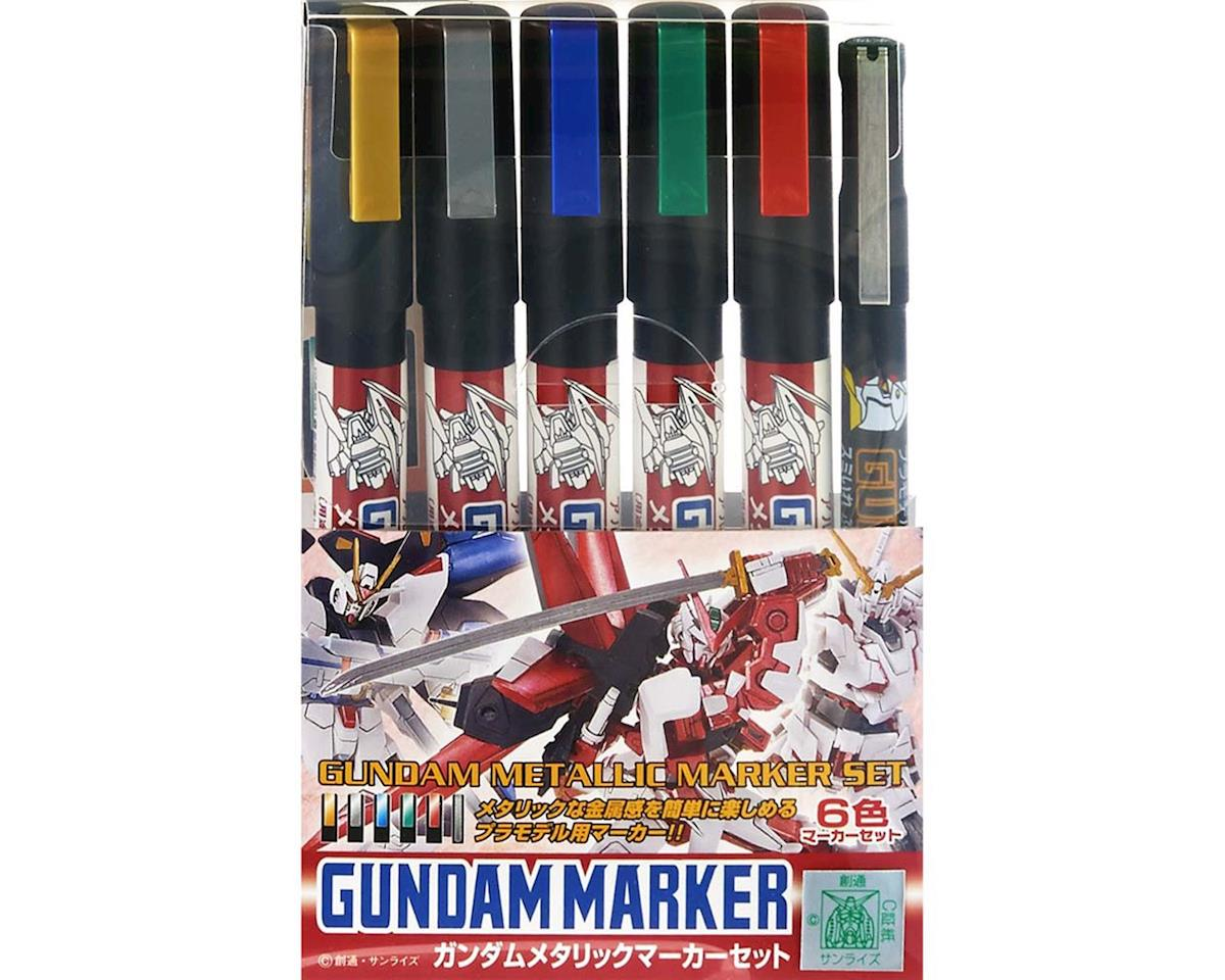 Bandai GMS121 Gundam Marker Metallic Set of 6