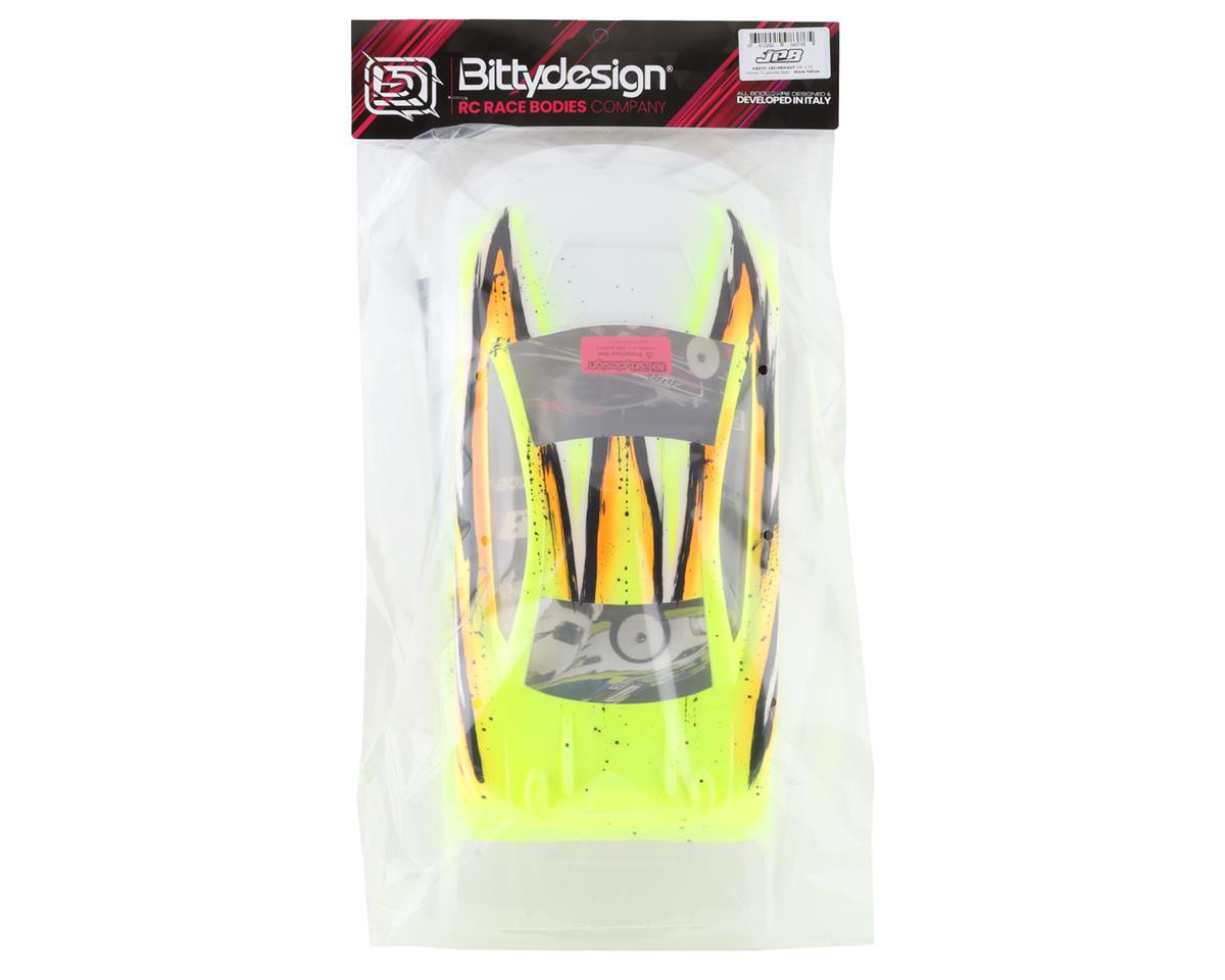 Bittydesign JP8 1/10 Pre-Painted 190mm TC Body (Wave/Yellow)