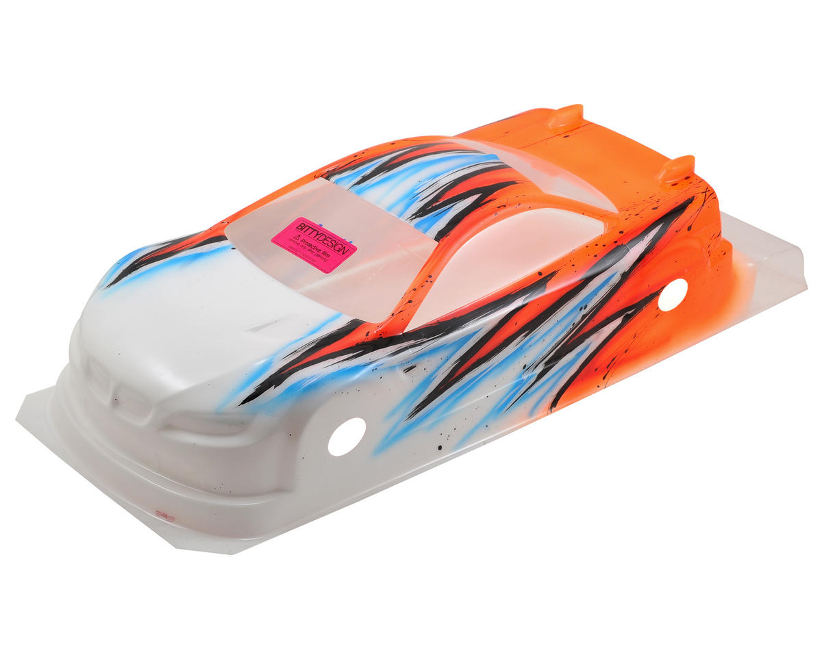 Bittydesign M15 EFRA Spec 1/10 Painted Touring Car Body (Wave/Orange) (190mm)