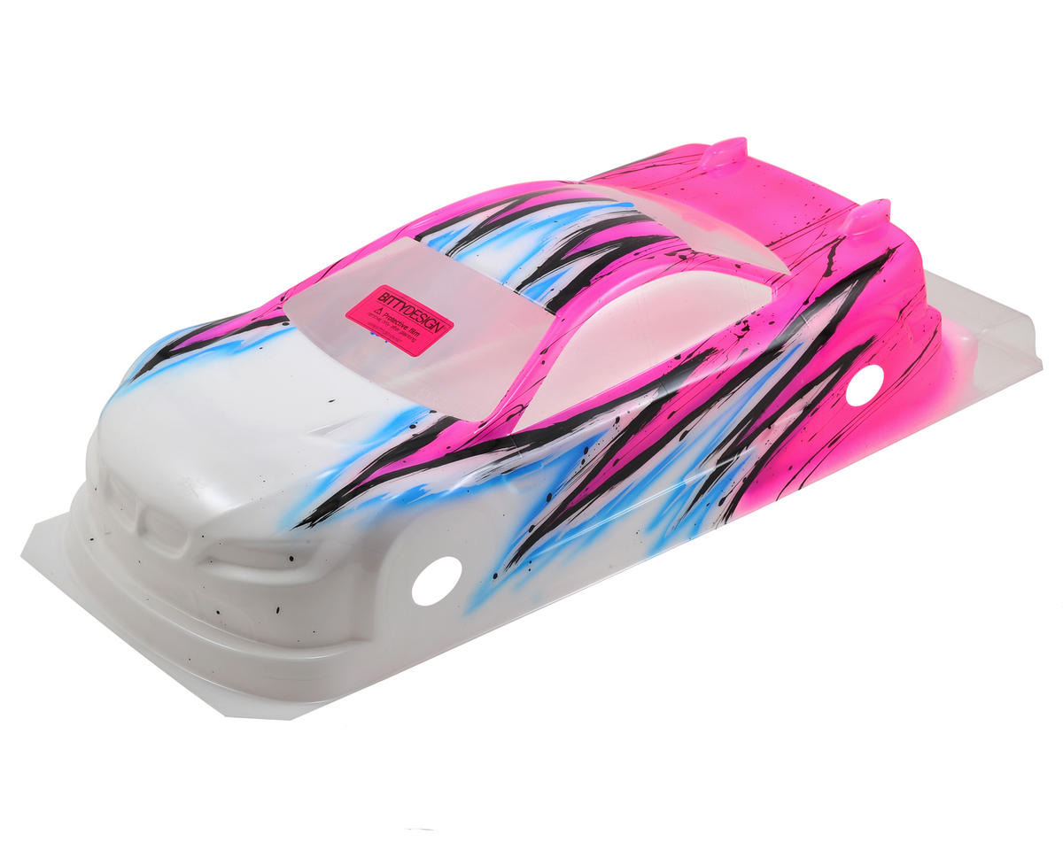 Bittydesign M15 EFRA Spec 1/10 Pre-Painted Touring Car Body (Wave/Pink) (190mm)