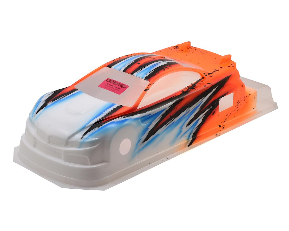 Bittydesign M410 1/10 Pre-Painted 190mm TC Body (Wave/Orange)