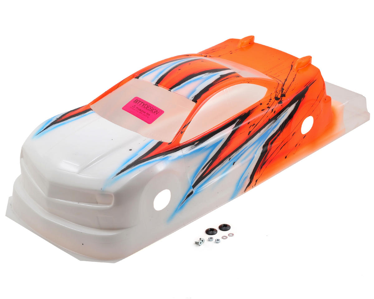 Bittydesign MC10 1/10 Pre-Painted 190mm TC Body (Wave) (Orange)