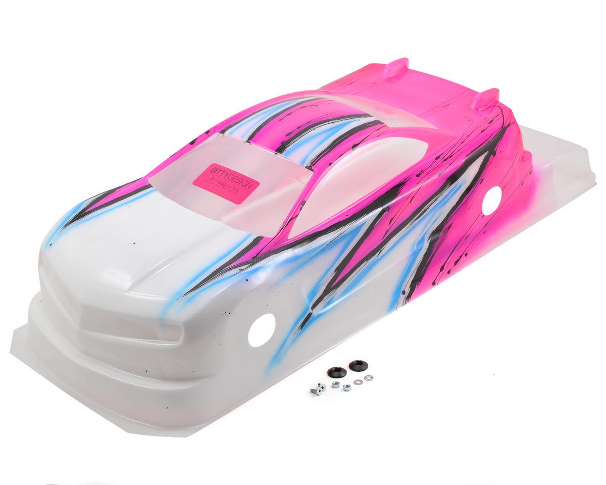 Bittydesign MC10 1/10 Pre-Painted 190mm TC Body (Wave) (Pink)