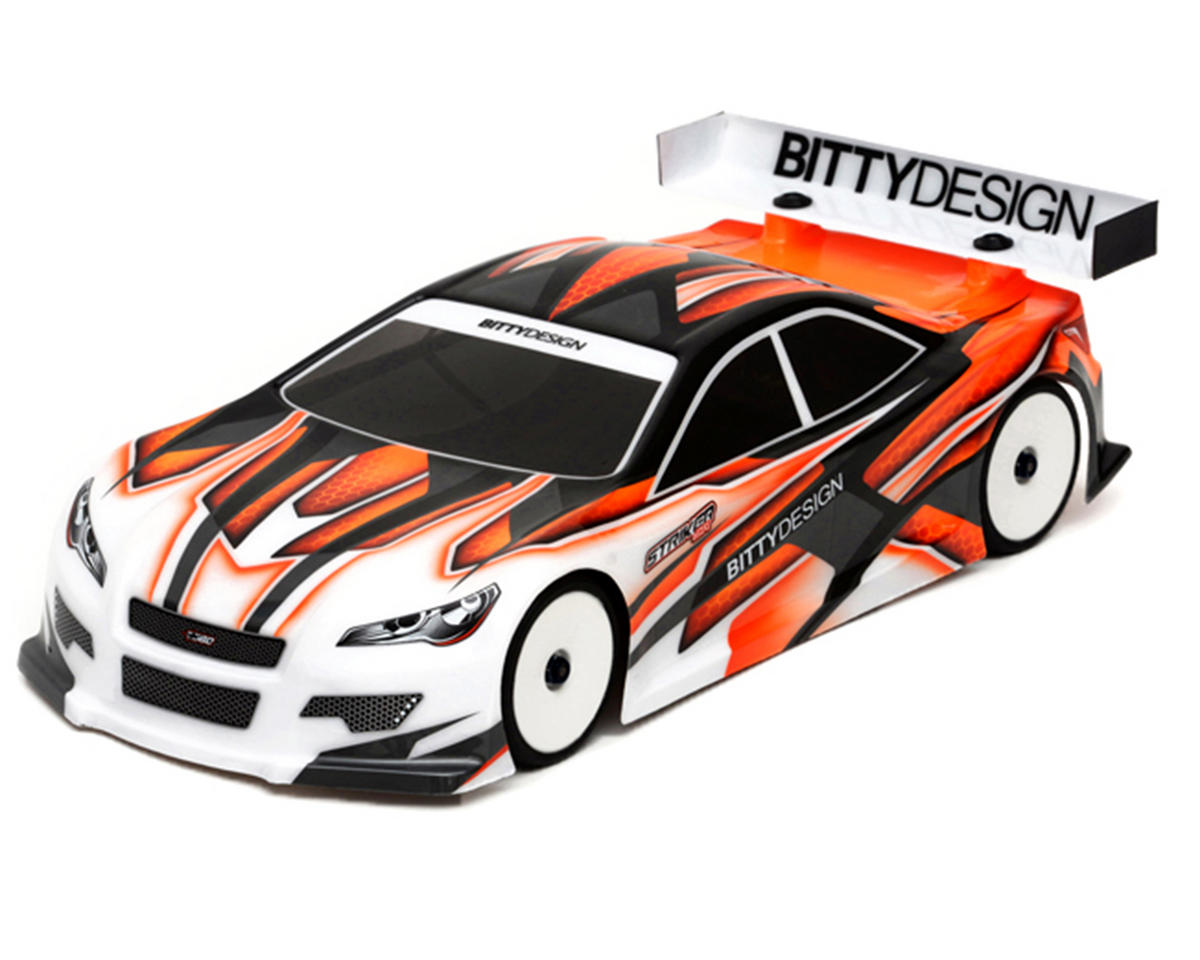 Bittydesign Striker-SR 3.0 1/10 Pre-Painted 190mm TC Body (Wave) (Orange)