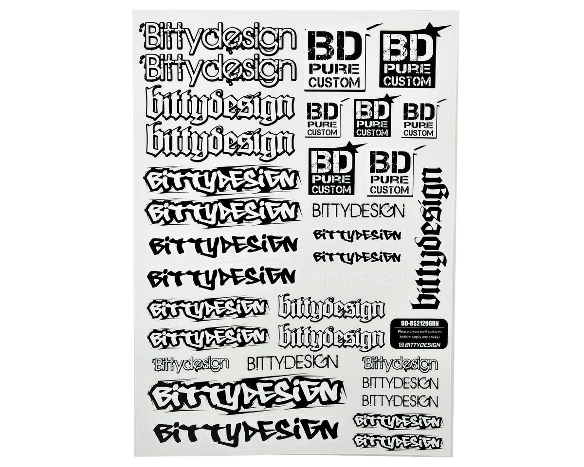 Bittydesign 21x29cm Big Size Fuel Proof Decal Sheet