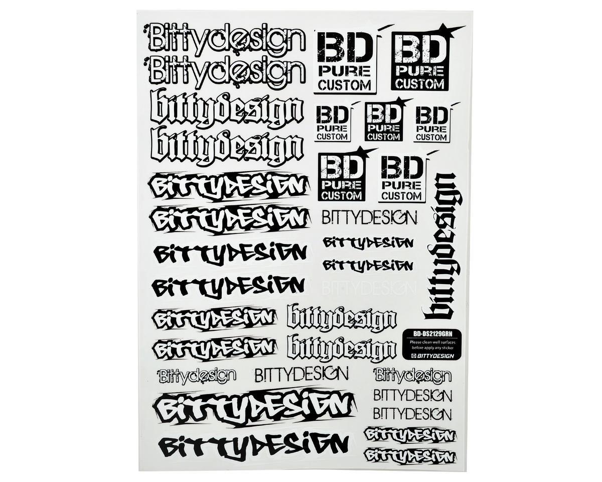 Bittydesign 21x29cm Big Size Fuel Proof Decal Sheet