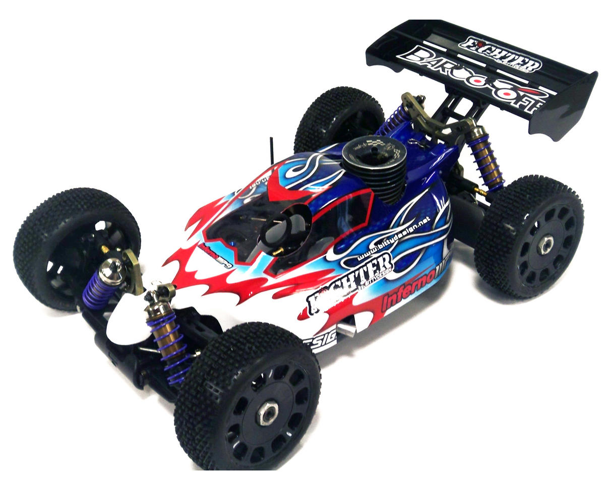"Bittydesign ""Fighter"" Kyosho MP9 1/8 Buggy Body (Clear)"