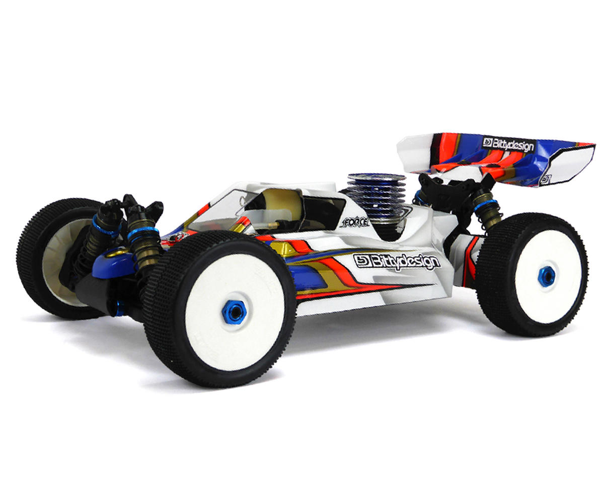 "Bittydesign ""Force"" Team Associated RC8B3/B3.1 1/8 Buggy Body (Clear)"