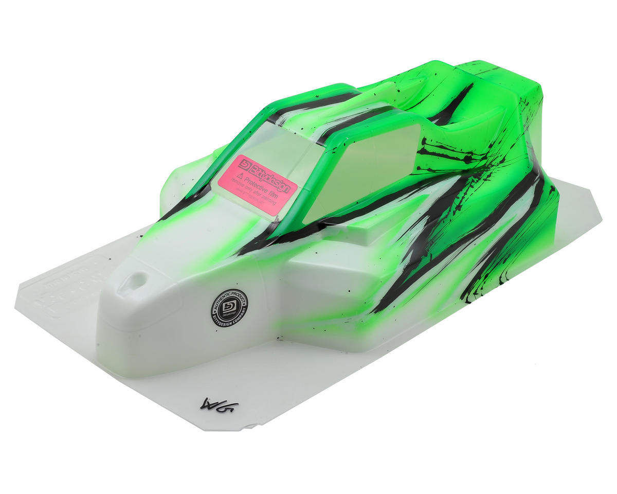 "Bittydesign ""Force"" RC8B3 1/8 Pre-Painted Buggy Body (Wave/Green)"