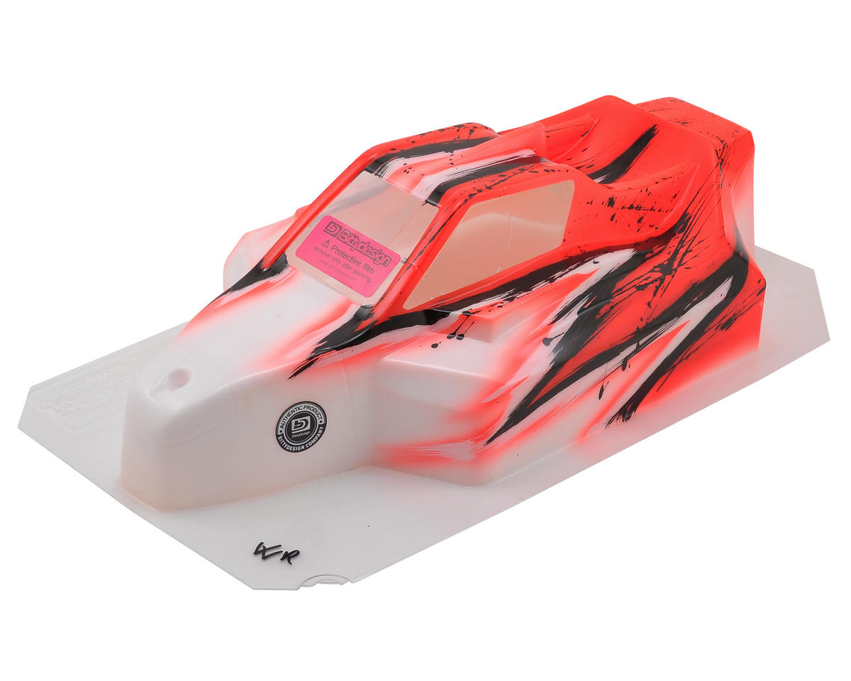 "Bittydesign ""Force"" RC8B3/B3.1 1/8 Pre-Painted Buggy Body (Wave/Red)"