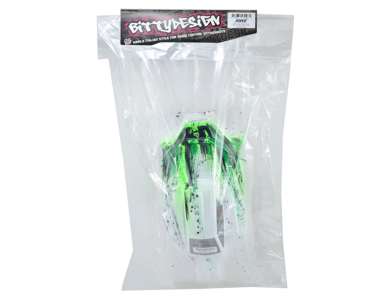 "Bittydesign ""Force"" Agama A8 EVO 1/8 Pre-Painted Buggy Body (Grunge/Green)"
