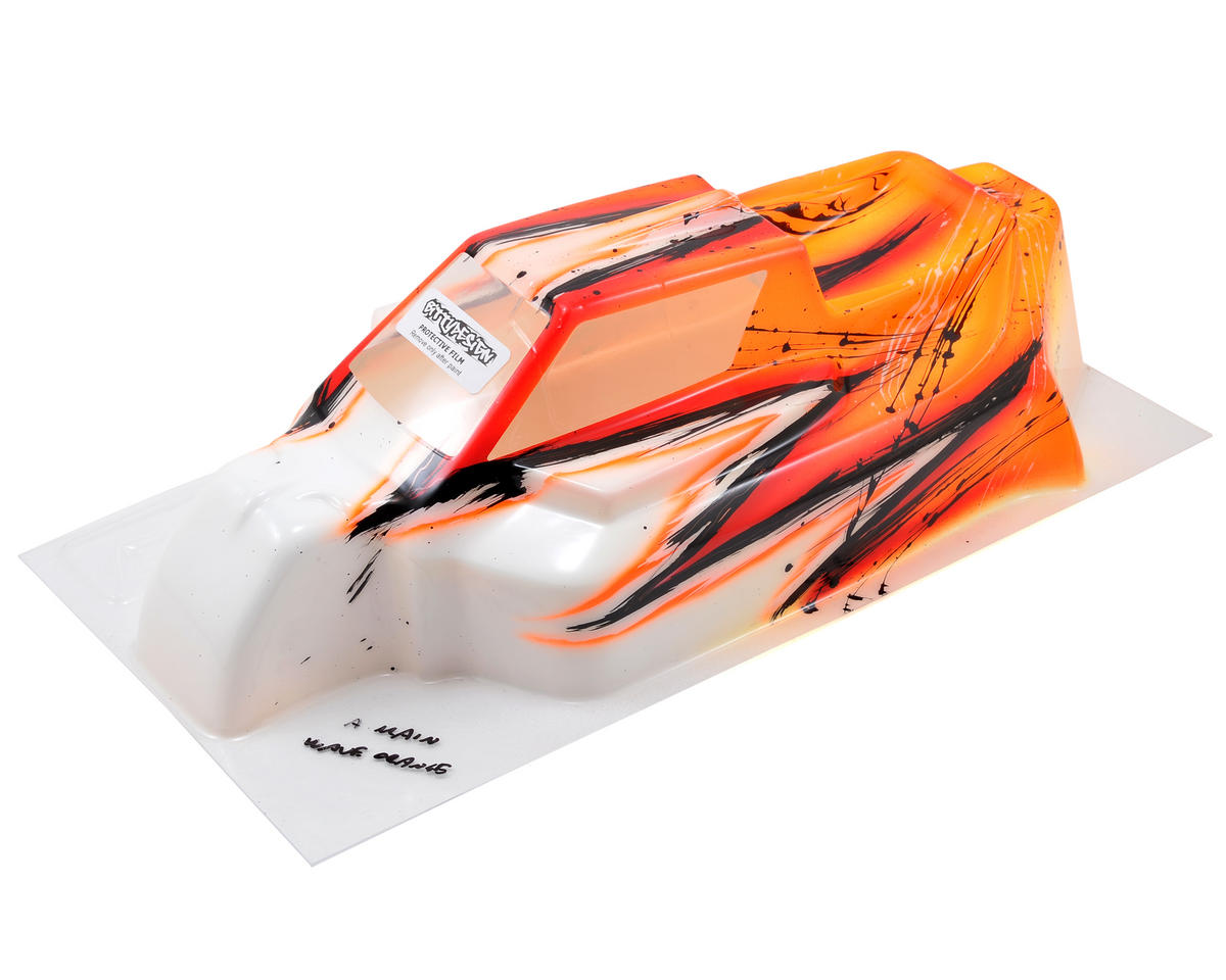 "Bittydesign ""Force"" Agama A8 EVO 1/8 Pre-Painted Buggy Body (Wave/Orange)"