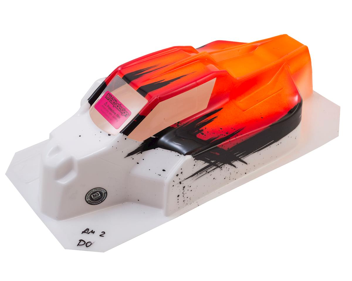 "Bittydesign ""Force"" Hot Bodies D815/D812 1/8 PrePainted Buggy Body (Dirt/Orange)"