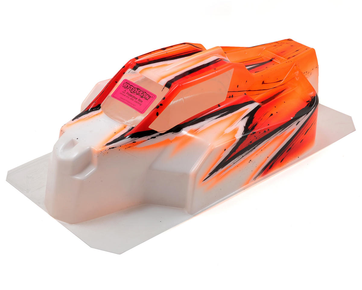 Bittydesign Force D815/D812 1/8 Painted Buggy Body (Wave) (Orange)