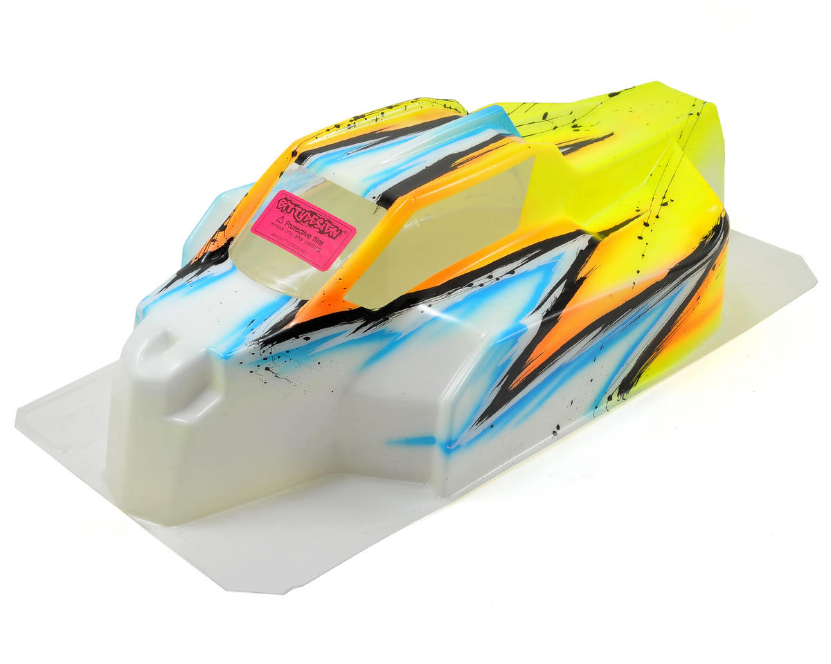 Bittydesign Force D815/HB Racing D812 1/8 Painted Buggy Body (Wave) (Yellow)