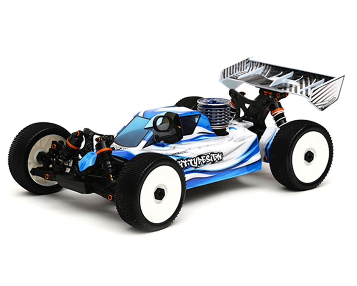 "Bittydesign ""Force"" JQ THE Car White Edition 1/8 Buggy Body (Clear)"