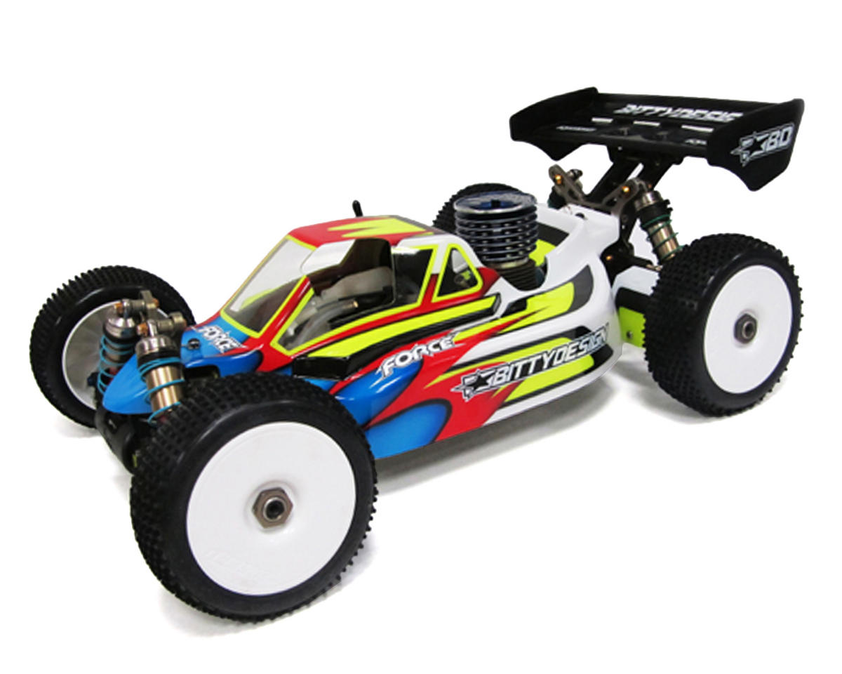 "Bittydesign ""Force"" Kyosho MP9 TKI2/3/4 1/8 Buggy Body (Clear)"