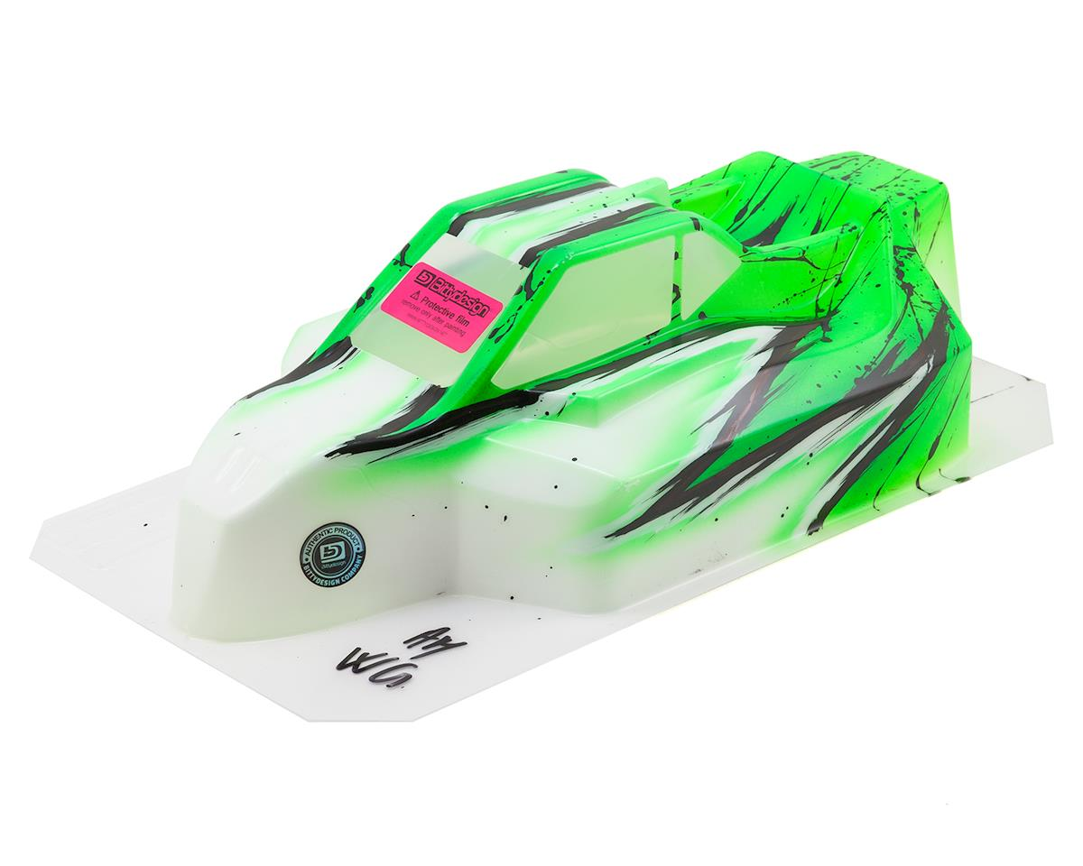 """Bittydesign """"Force"""" Kyosho MP9 TKI 4 1/8 Pre-Painted Buggy Body (Wave/Green)"""