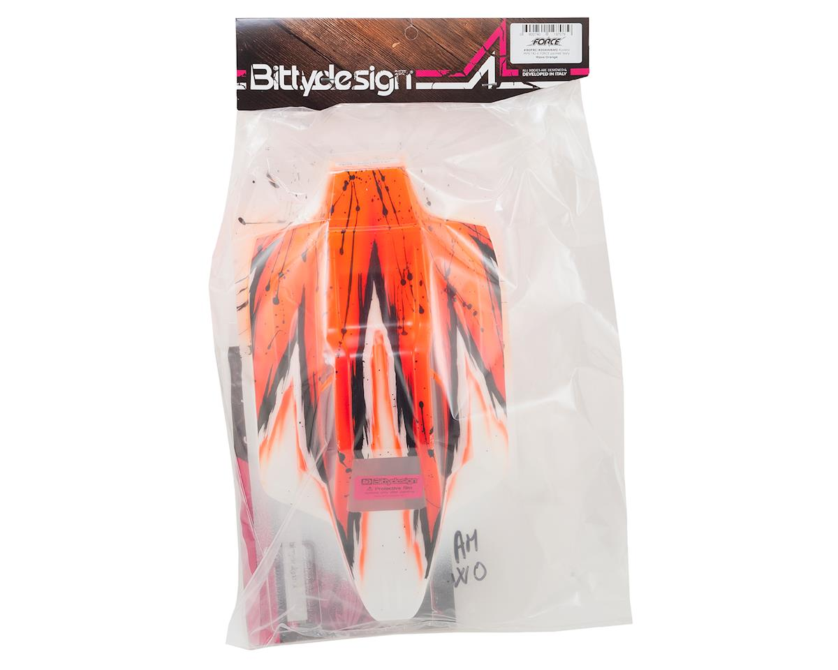 "Bittydesign ""Force"" Kyosho MP9 TKI 4 1/8 Pre-Painted Buggy Body (Wave/Orange)"
