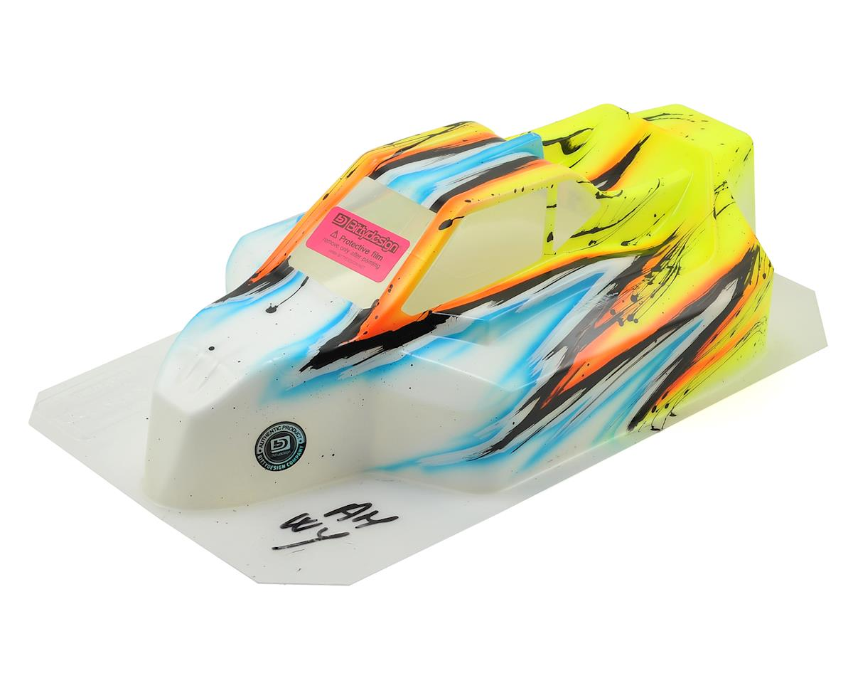 "Bittydesign ""Force"" Kyosho MP9 TKI 4 1/8 Pre-Painted Buggy Body (Wave/Yellow)"