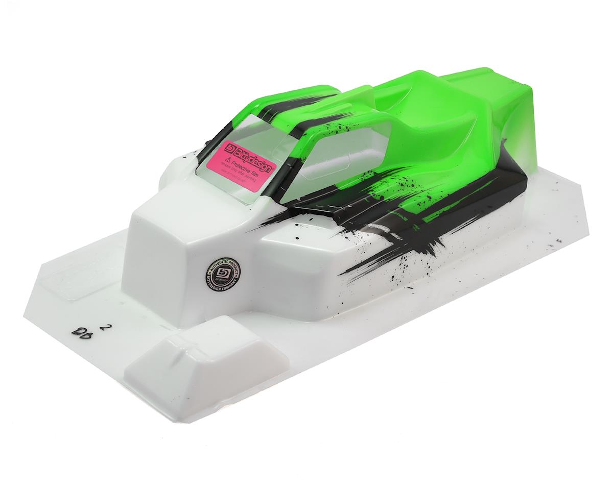 """Bittydesign """"Force"""" TLR 8ight 4.0 1/8 Pre-Painted Buggy Body (Dirt/Green)"""