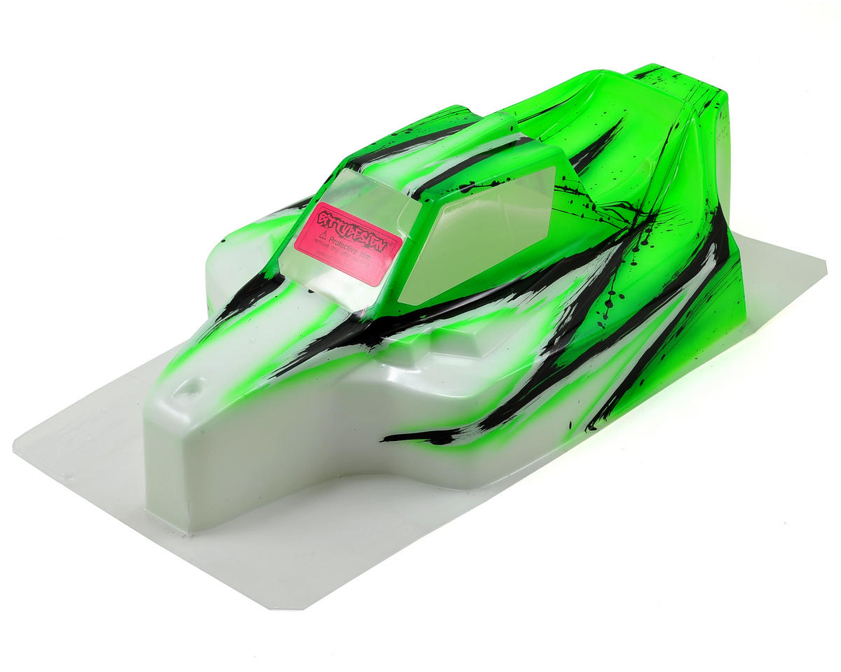 "Bittydesign ""Force"" Mugen MBX7 1/8 Pre-Painted Buggy Body (Wave) (Green) (S-Workz Racing S350 BK1)"