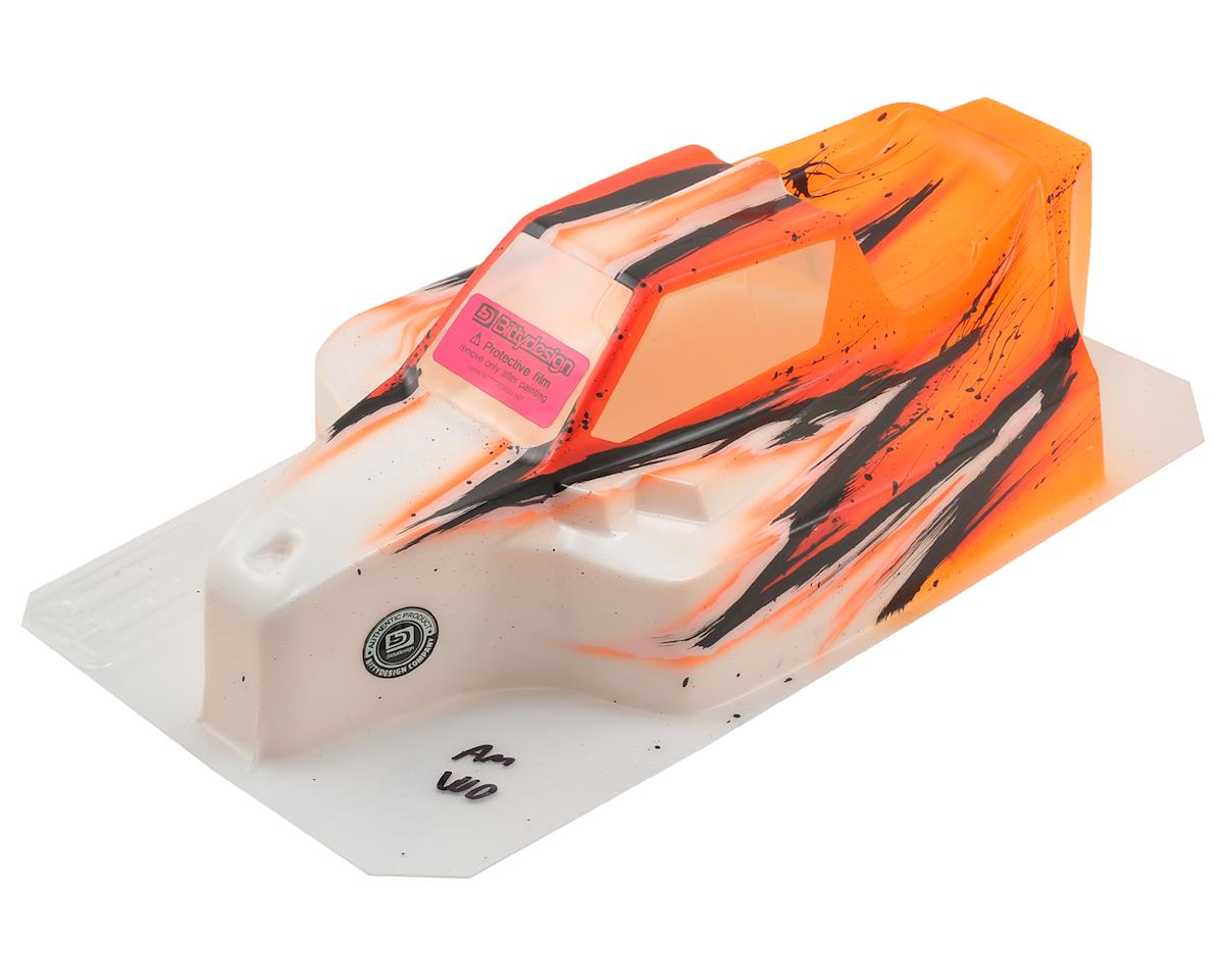"Bittydesign ""Force"" Mugen MBX8/MBX7 1/8 Pre-Painted Buggy Body (Wave) (Orange) (S-Workz S350 BK1 EVO)"