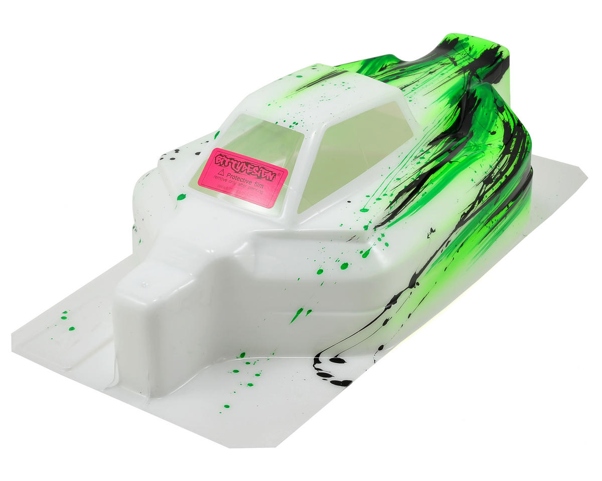 "Bittydesign ""Force"" Serpent Cobra S811 1/8 Pre-Painted Buggy Body (Grunge) (Green)"