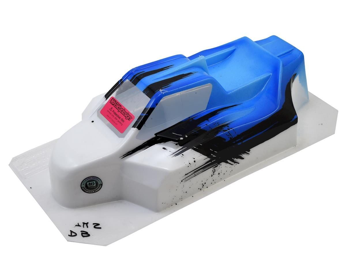 """Bittydesign """"Force"""" XRAY XB8 1/8 Pre-Painted Buggy Body (Dirt/Blue)"""